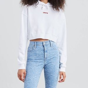 Levi's cropped hoodie. Never worn